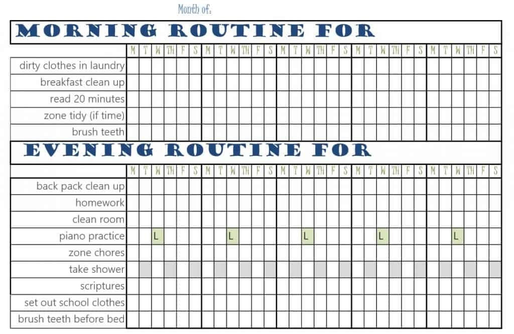 Chore Chart Pic