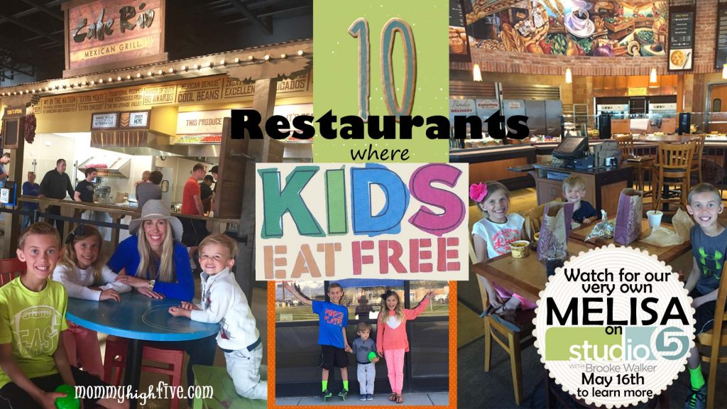 Eating out with kids can be expensive! Here are a few restaurants that help parents lighten the load.