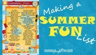 Summer Fun List for Kids