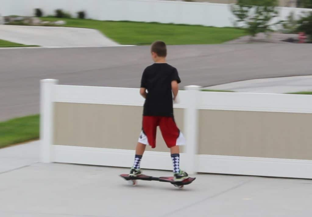 Riding the Razor Caster Board