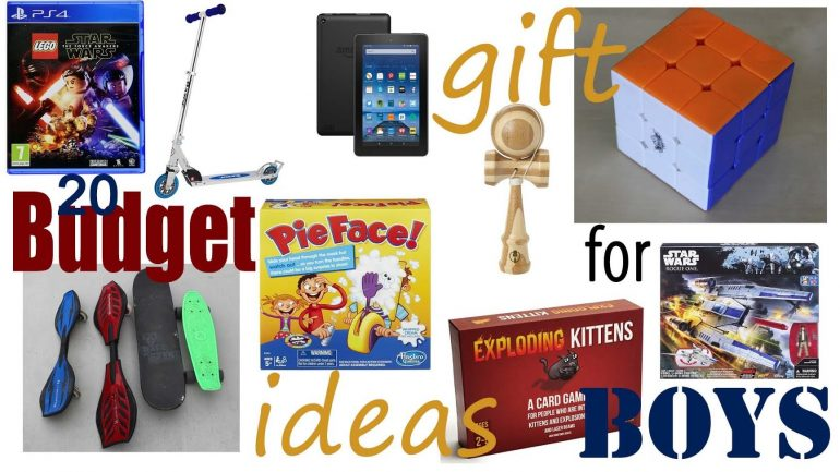 Good Budget Christmas and Birthday Gift Ideas for Boys
