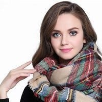 buttons-and-pleats-women-plaid-blanket-shawl-scarf-for-her