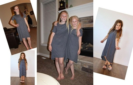 Striped Tween Modest Casual Dress