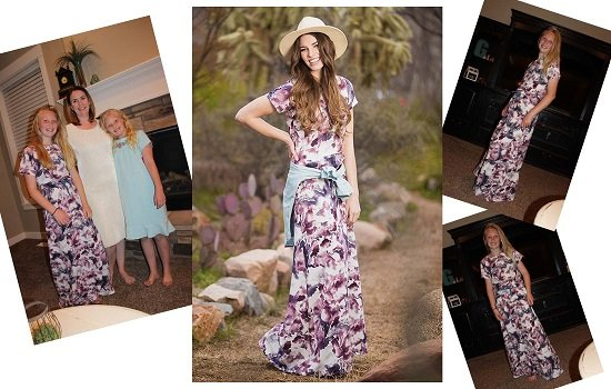 Elegant Women and Tween Maxi Dress Utah