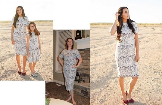 Jasmine ~ $60 and Savannah (lace) Modest Dress